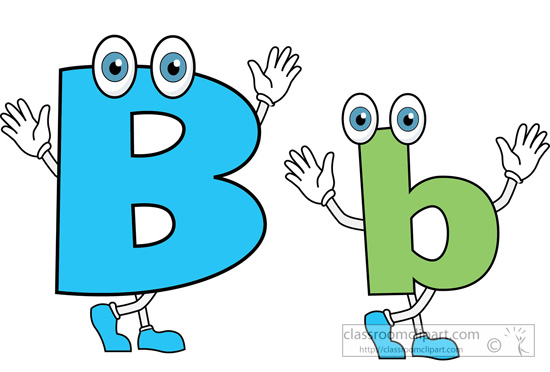 B clipart cartoon. Alphabets letter alphabet upper
