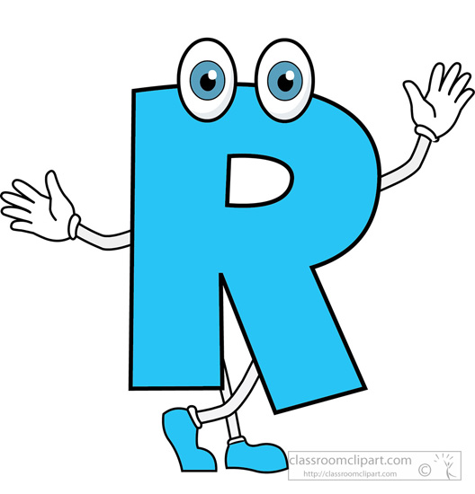 R clipart letter. Free cartoon cliparts download