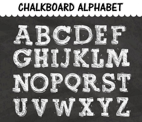 abc clipart chalkboard