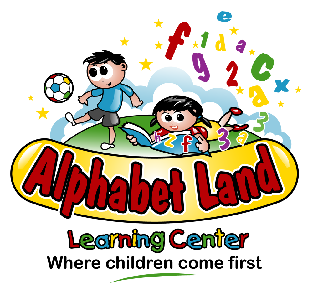Alphabet land learning logo. Curriculum clipart preschool center time