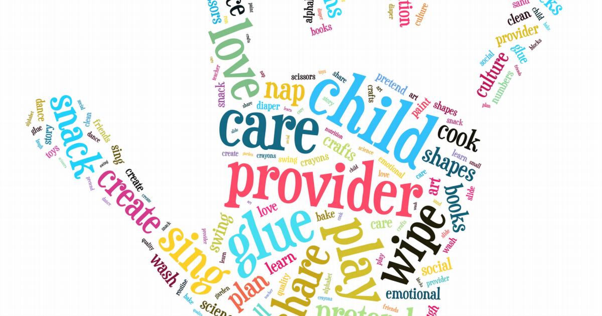 Alphabet clipart child care provider. Appreciation day printable poster