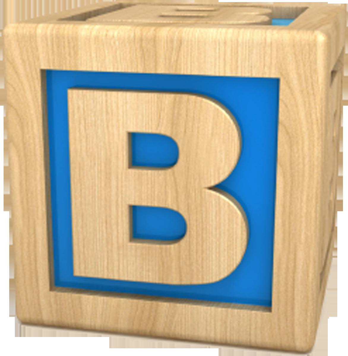 Buncee . B clipart letter blocks