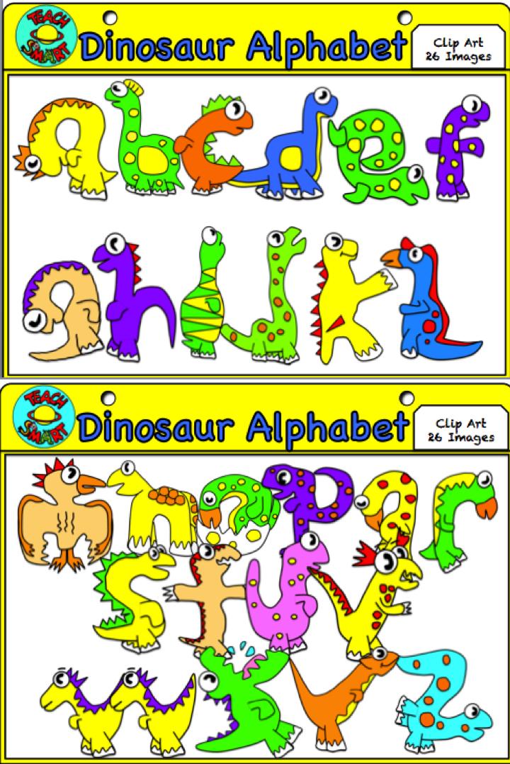 A z clip art. Alphabet clipart dinosaur