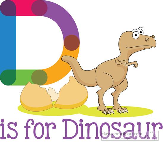 Alphabets d is for. Alphabet clipart dinosaur