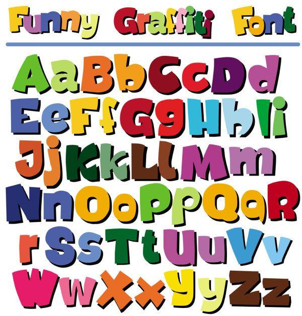 Alphabet clipart english alphabet. Cartoon pop letters abc