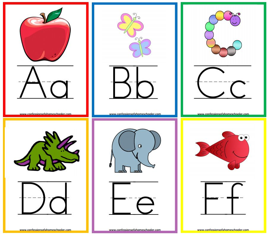 Alphabet clipart flashcard. Free printable flashcards
