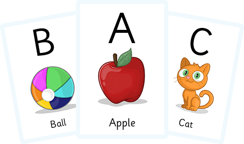 Apples clipart flashcard. Alphabet flash cards download