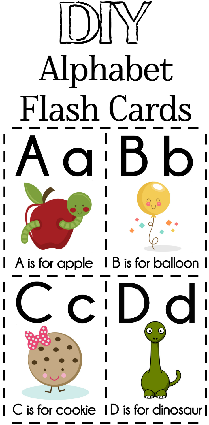 Alphabet clipart flashcard. Diy flash cards free