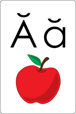 Alphabet clipart flashcard. Free downloadable flash cards