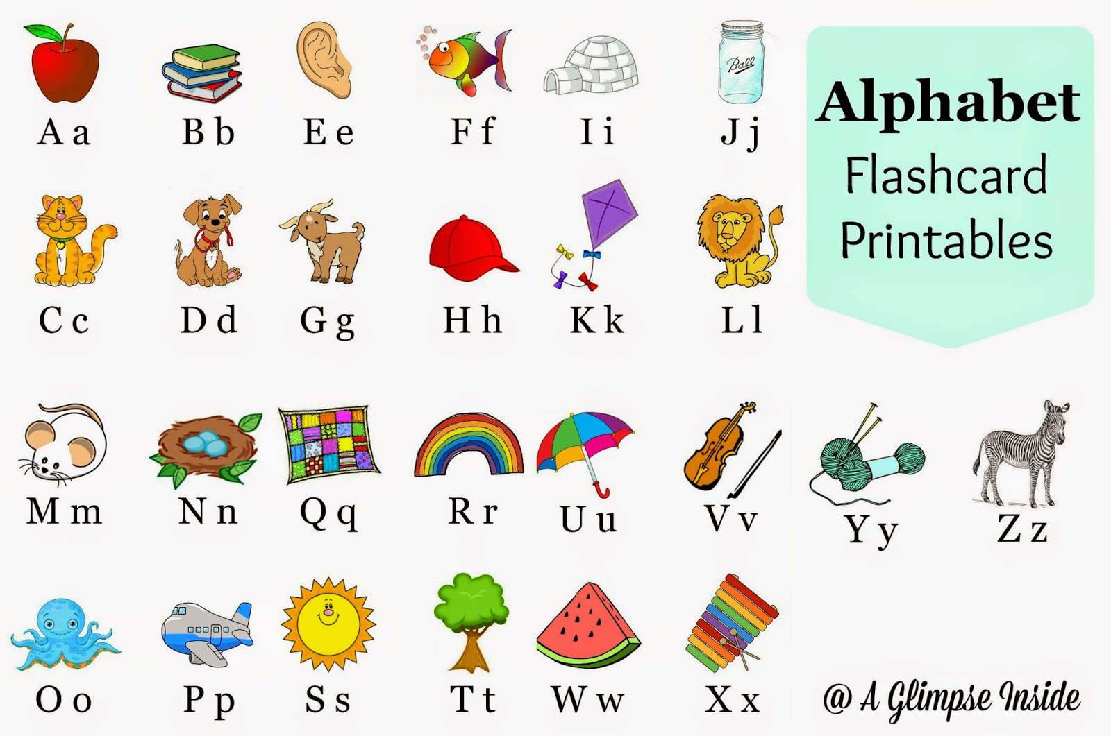 The flash cards incep. Alphabet clipart flashcard