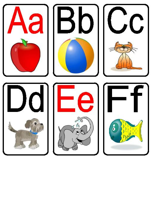 Alphabet clipart flashcard. Letters flash cards incep