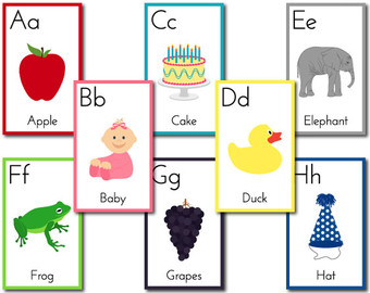 Alphabet clipart flashcard. Flashcards etsy flashcardsalphabet lessonprintable
