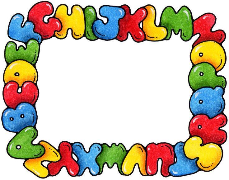 best free school. Alphabet clipart frame