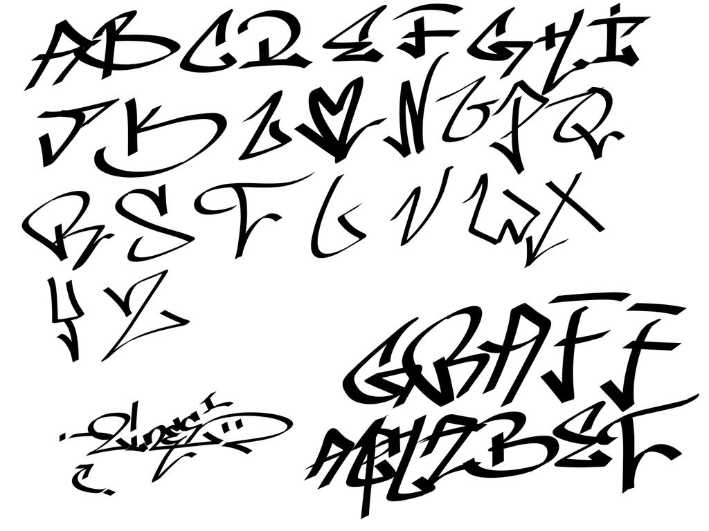 Alphabet clipart graffiti. Tagging tag alfabet free