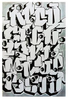 Letters collection d a. Alphabet clipart graffiti