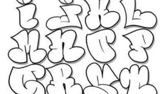 Alphabet clipart graffiti. Letters in bubbles example