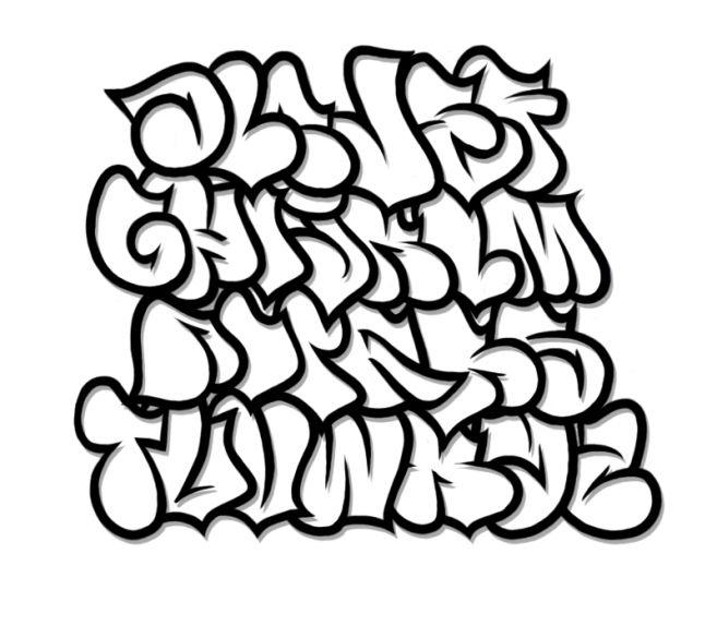 Fonts on library font. Alphabet clipart graffiti