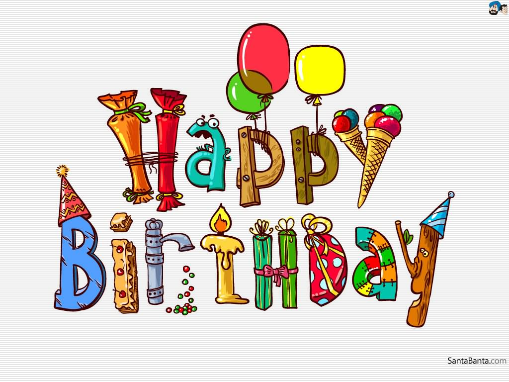 . Beautiful clipart happy birthday
