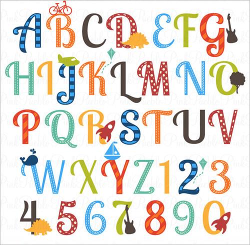 Alphabet clipart lettering.  nursery letters ai