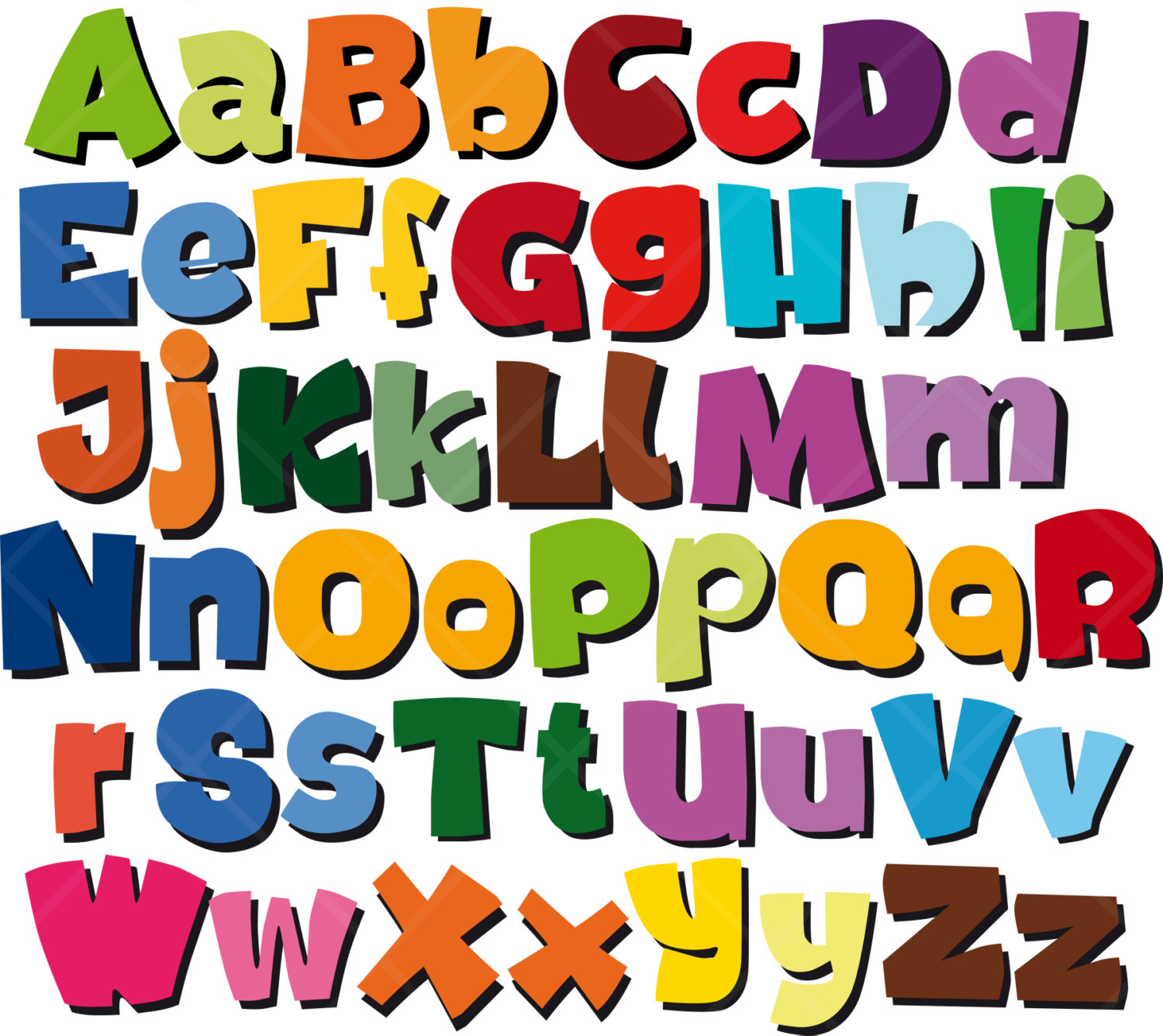 Free printable cliparts download. Alphabet clipart lettering