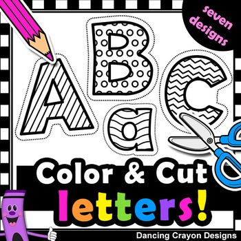 Alphabet clipart line. Letters with cutting lines