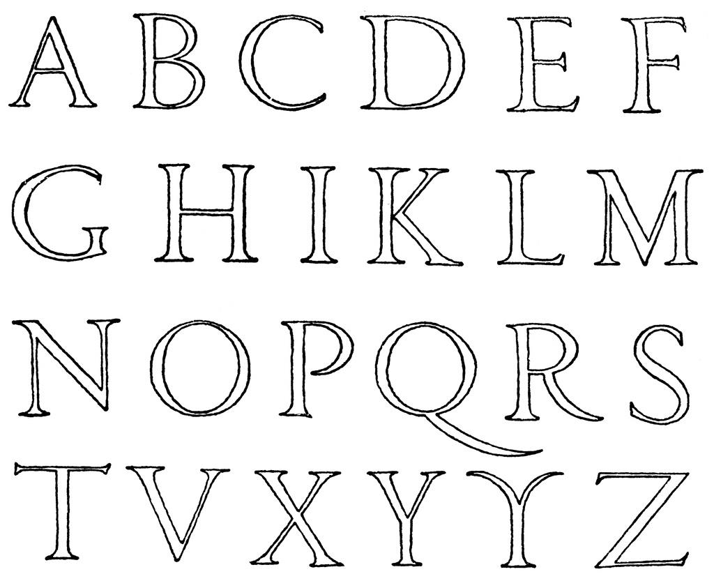 Alphabet clipart line. Letters clip art black