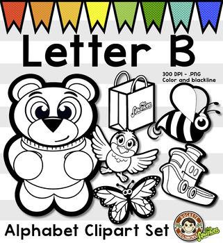 B clipart line. Alphabet clip art letter