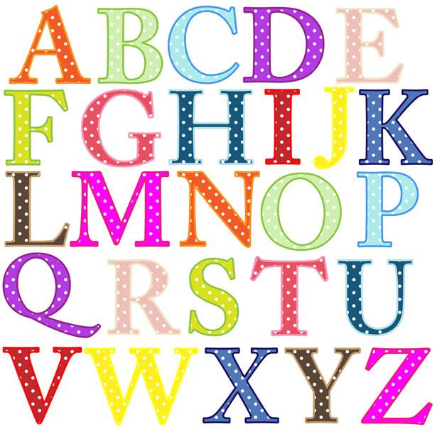Alphabet clip art free. Letters clipart