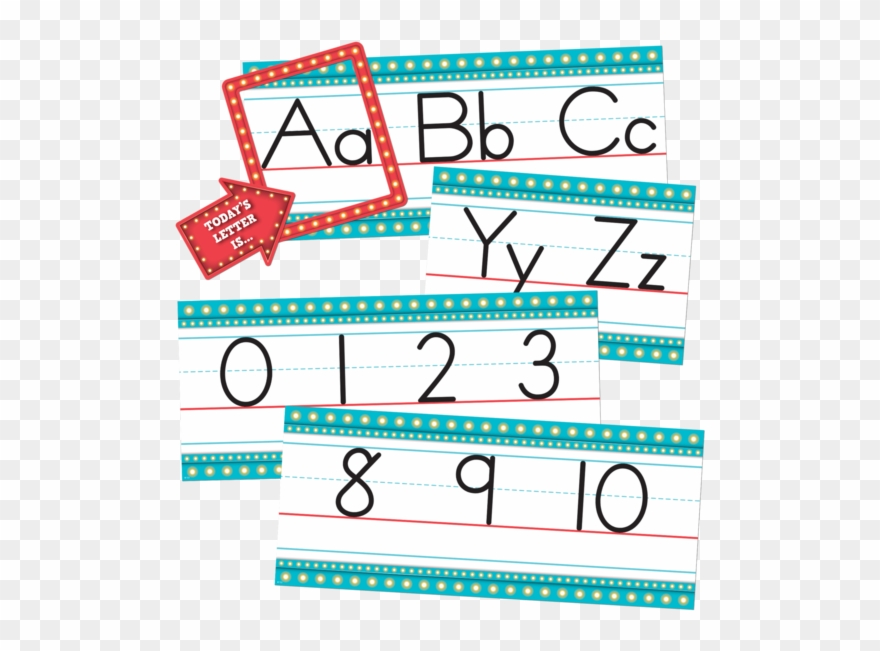 Alphabet clipart line. Marquee bulletin board of