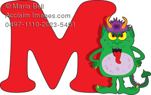 Alphabet clipart monster. Letters of the clip