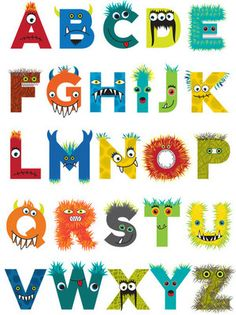 Alphabet clipart monster. Pin by marisa wood