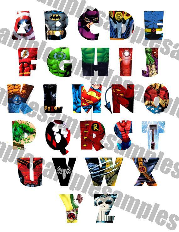 Alphabet clipart printable. Superhero font letters spiderman