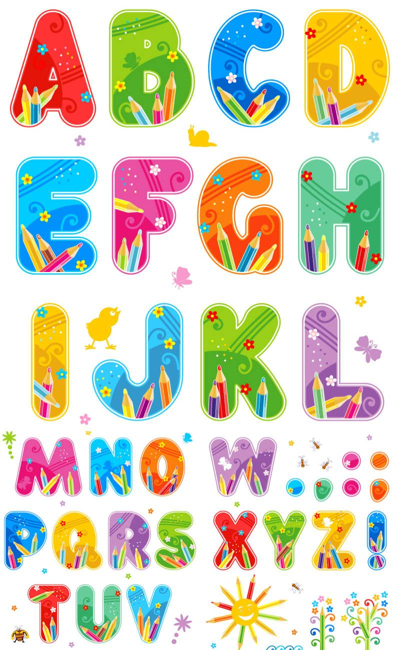 Alphabet clipart printable. Free funny letters summer