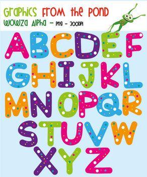 Boxes clipart alphabet. Wowza alpha for teaching