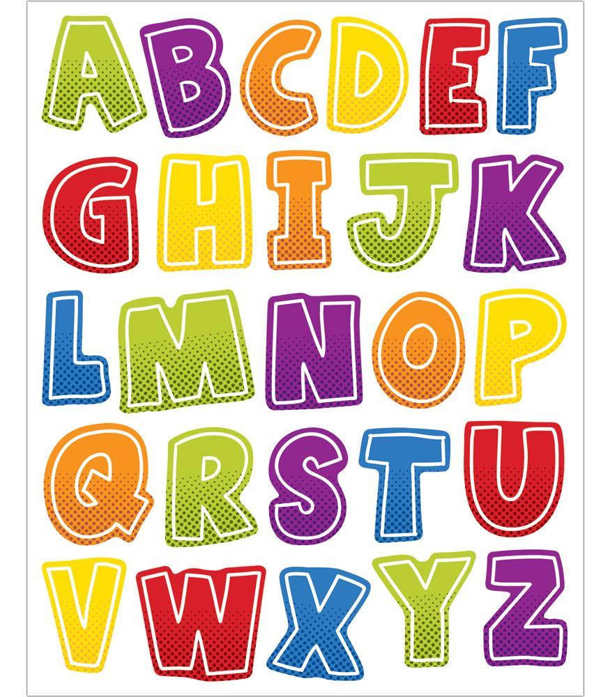 Super power letters shape. Alphabet clipart uppercase letter