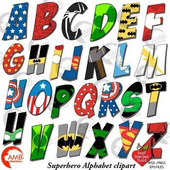 Alphabet clipart uppercase letter. Superhero letters best teacher