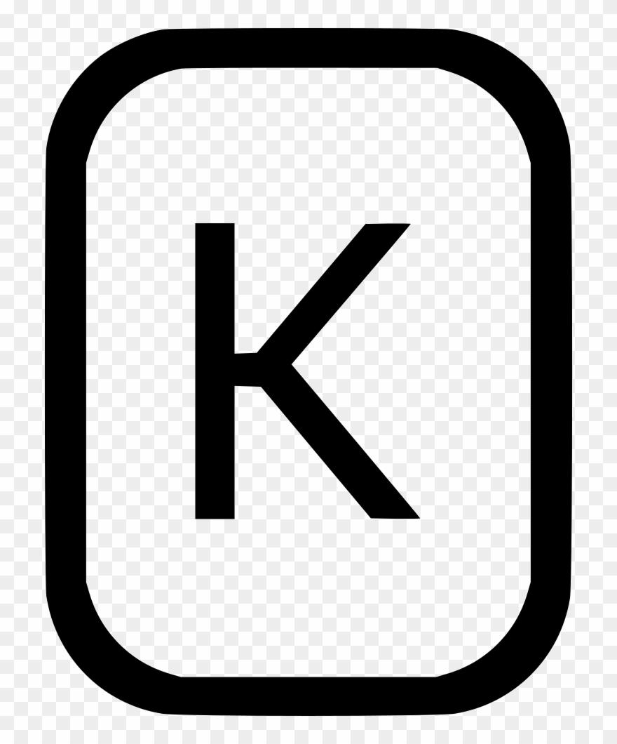 K latin comments . Alphabet clipart uppercase letter
