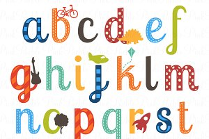 Boy vectors illustrations creative. Alphabet clipart