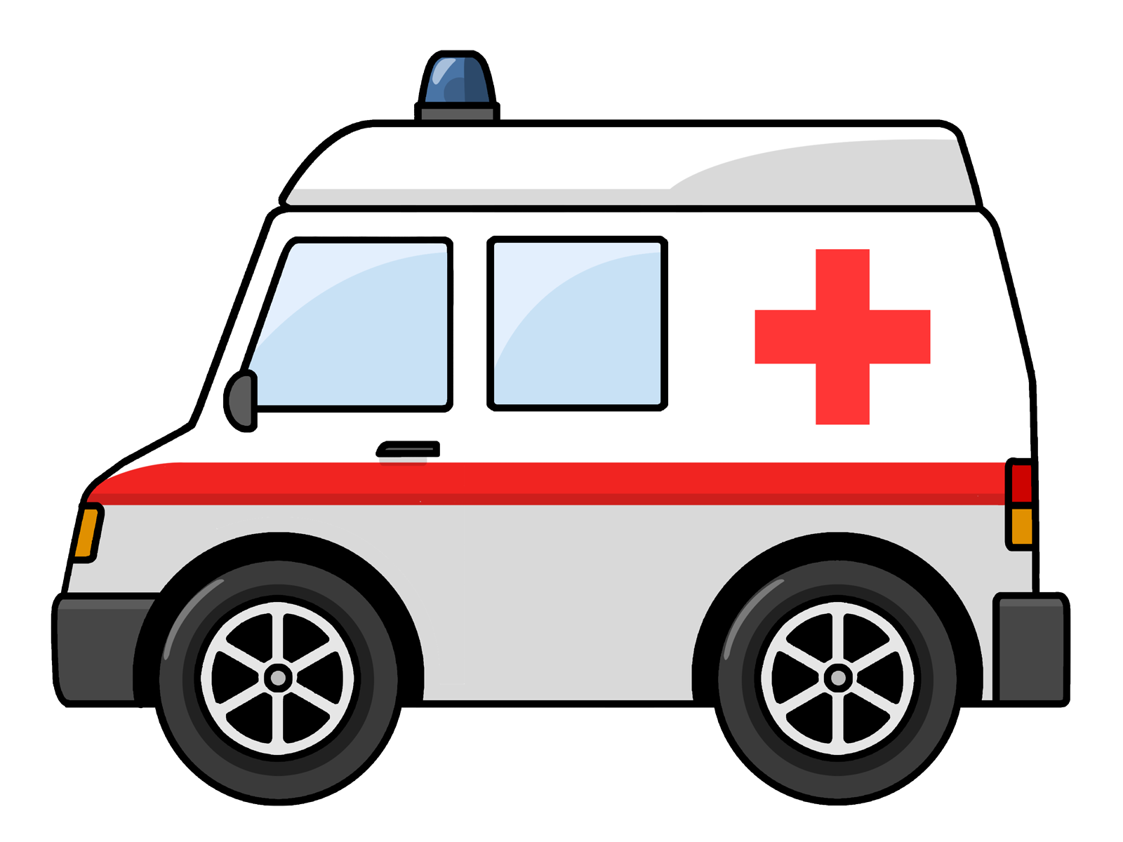 Ambulance seeing an is. Minivan clipart kid