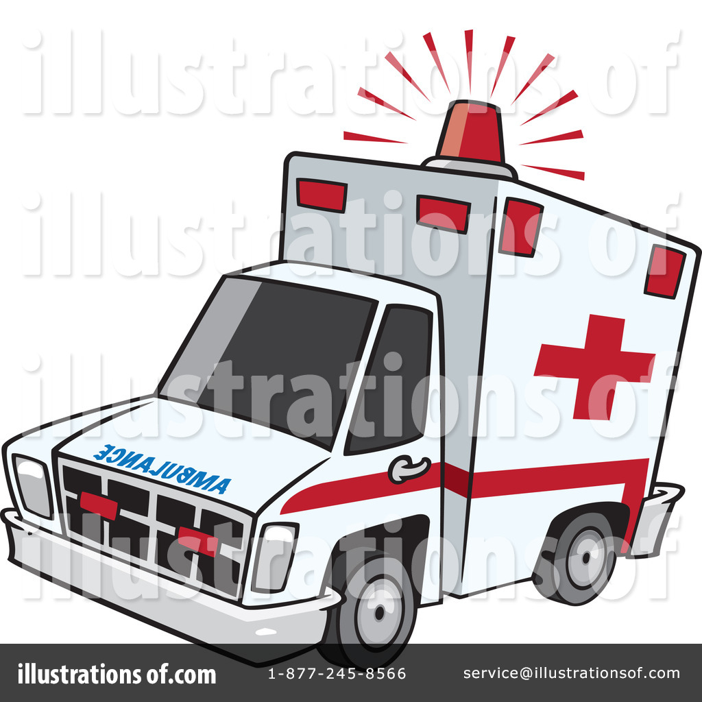 Illustration by toonaday royaltyfree. Ambulance clipart