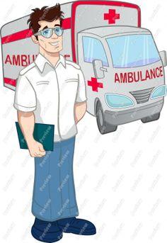Amblance senior kindergarten with. Emergency clipart ambulance driver