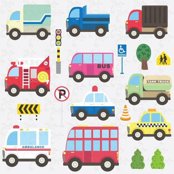 Ambulance clipart ambulance truck. Transportation clip art cute
