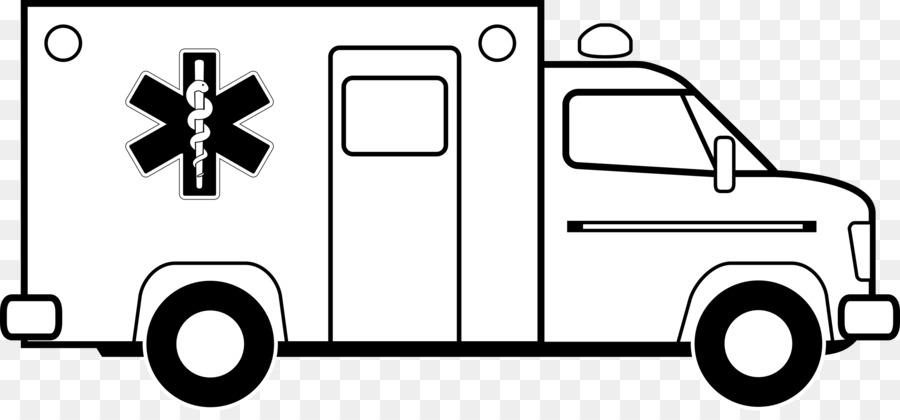 Book black and white. Emergency clipart ambulance car