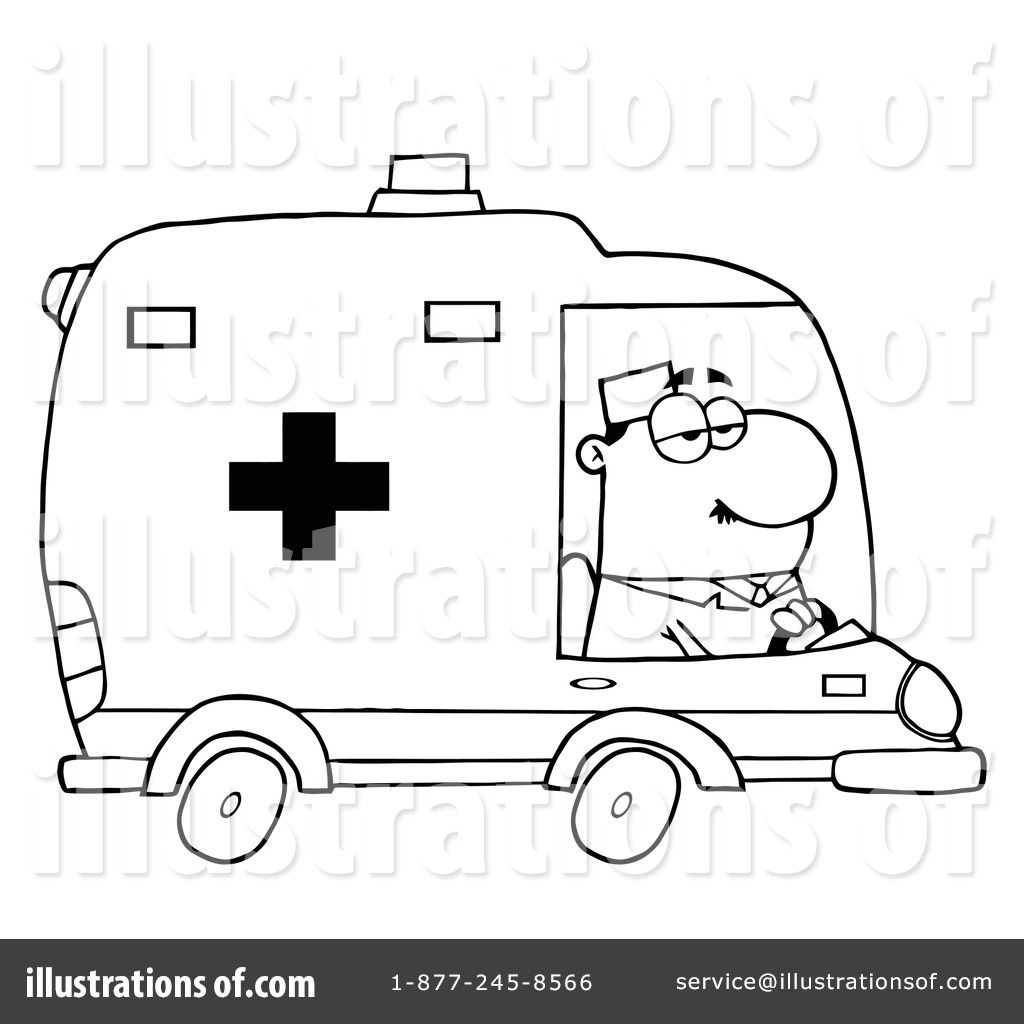 Ambulance clipart book. Illustration by hit toon