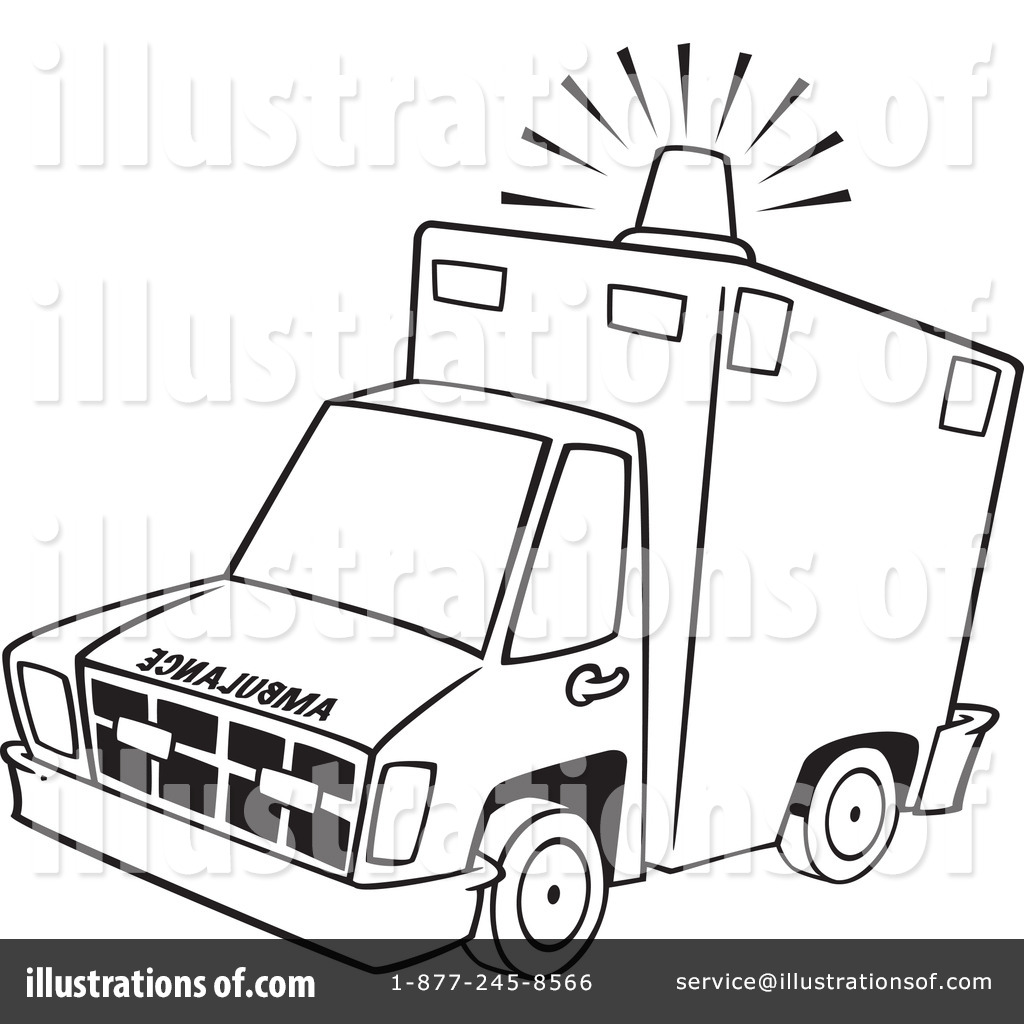 Ambulance clipart book. Illustration by toonaday royaltyfree