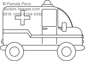 Clip art image of. Ambulance clipart book