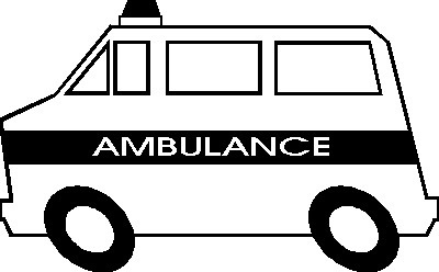 Awesome of black and. Ambulance clipart clip art