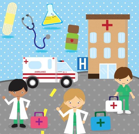 Ambulance clipart clip art. Doctor hospital medical