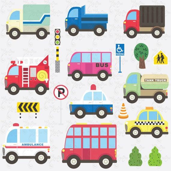 Transportation clip art vehicles. Ambulance clipart cute