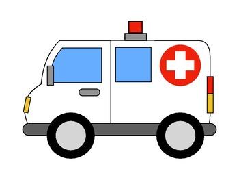 Ambulance clipart cute.
